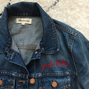 Madewell x Ft Lonesome custom denim jacket